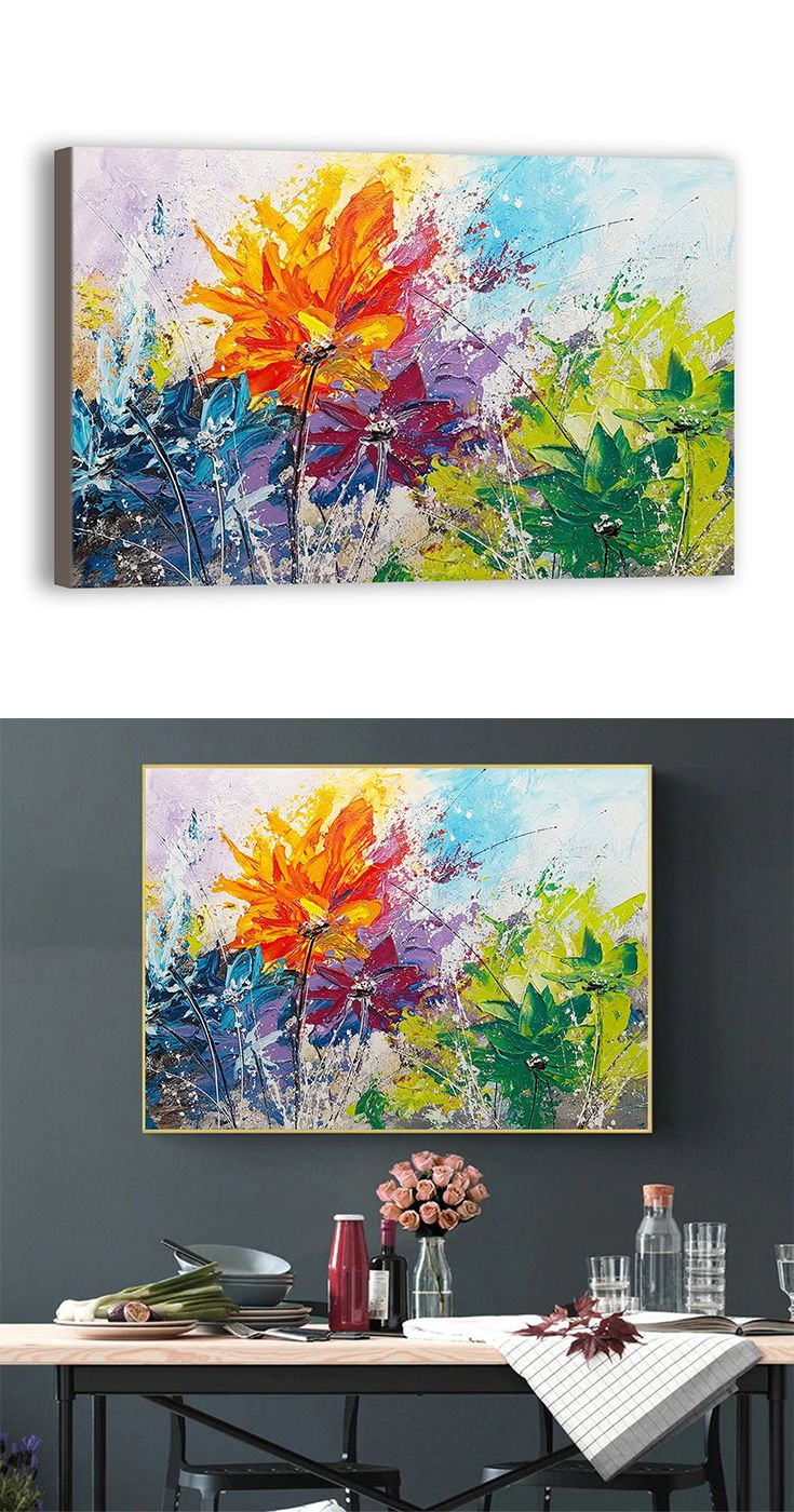Flower Hand Painted Oil Painting Canvas Wall Art Etsy Painting Canvas Painting Art Painting Oil
