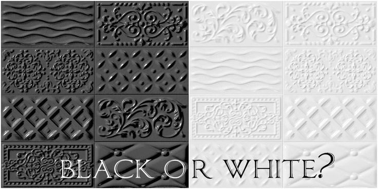 MUGAT - RIVOLI: Raspail Negro Blanco - 10x20cm.   Revestimiento - Pasta Roja   VIVES Azulejos y Gres S.A. simply about home płytki Vives Rivoli - Raspail Blanco/Negro #tile #coating