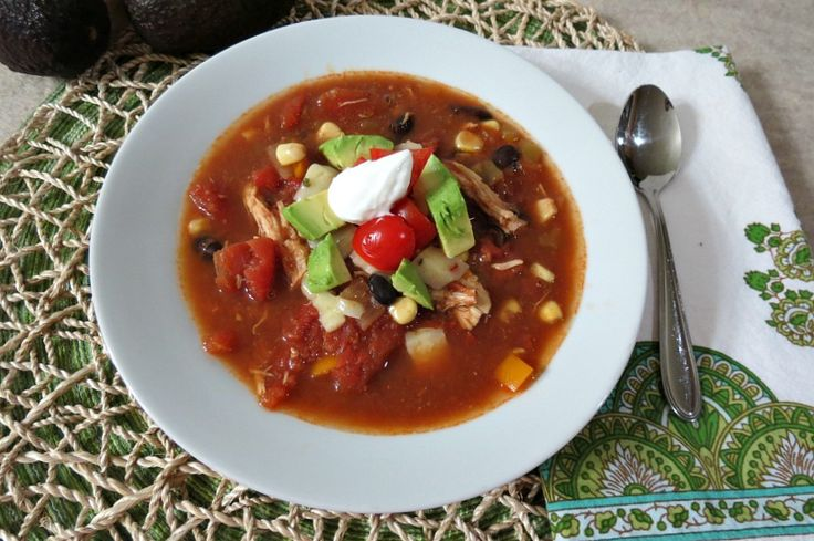 Southwestern Chicken Soup -- use up those sweet peppers