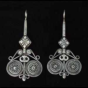 Central Asia | Kazakh Silver earrings