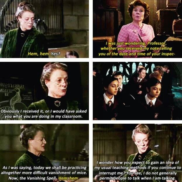 Professor Umbridge Professor McGonagall