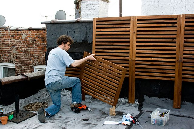 DIY Great idea to camouflage backyard fence.