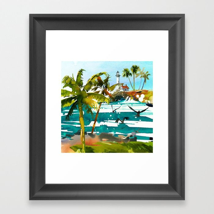 #seascape #tropical #artprint Available in different #giftideas products. Check more #society6 at society6.com/julianarw