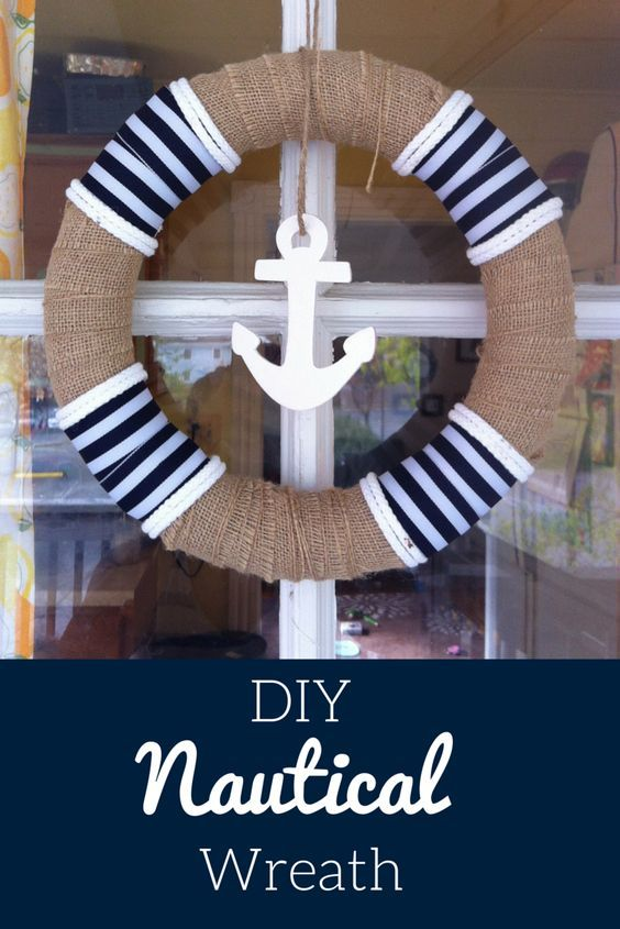 449 best nautical diy images on pinterest beach cottages beach make this easy diy nautical wreath for your home beach house or a nautical themed party it a quick craft that anyone can make it so cute and festive solutioingenieria Image collections