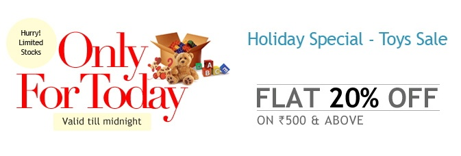 Vacation Special Extra 20 % OFF on Toys