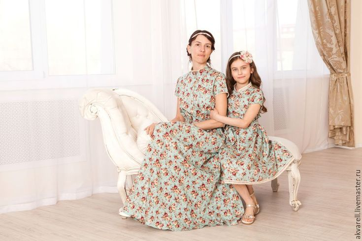 """Купить Платье """"Шебби-1""""на все случаи женской жизни - мятный, цветочный, платье для беременных"""