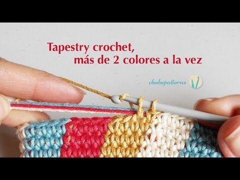 Tapestry crochet, más de 2 colores a la vez - YouTube