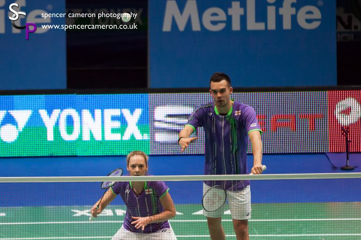 Chris Adcock and Gabby Adcock at the Yonex All Englang Badminton Championships 2015, photo courtesy of S C Photography.