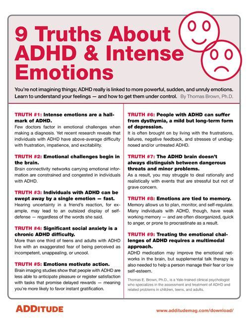 One Third Of Children With Adhd >> Free Handout Get A Grip On Tough Emotions Adhd Strategies For