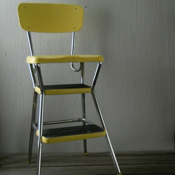 Vintage Yellow Cosco Step Stool Mothers Vintage And In Laws