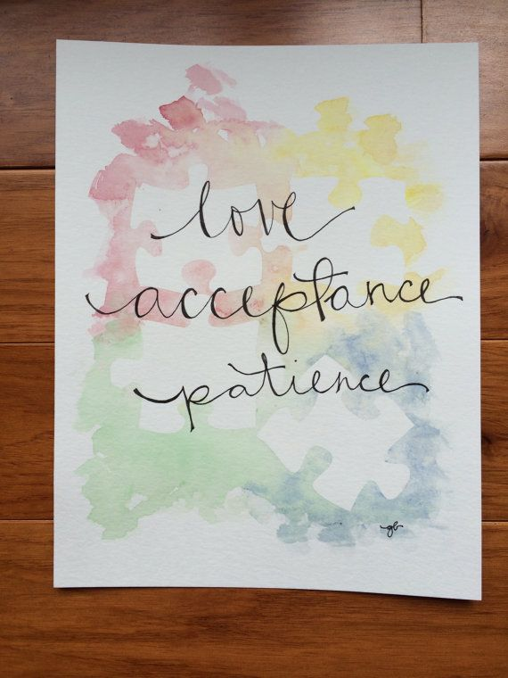 Autism love acceptance patience by ginisis on Etsy, $16.50 April is Autism Awareness Month