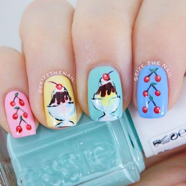 Cream Nail Art: 17 Best Ideas About Ice Cream Nails On Pinterest