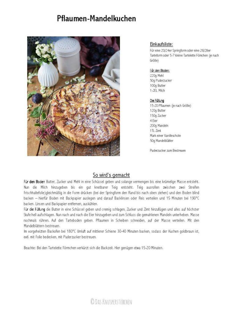 Pflaumen Mandelkuchen - Plum Almond Cake