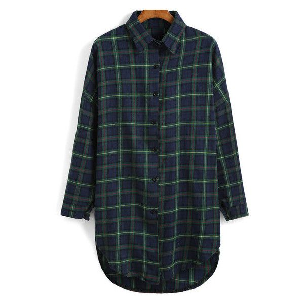 Navy Star Flannel Shirt Outfit Made (£23) ❤ liked on Polyvore featuring tops, blue shirt, star shirt, star print shirt, navy blue shirt and blue top