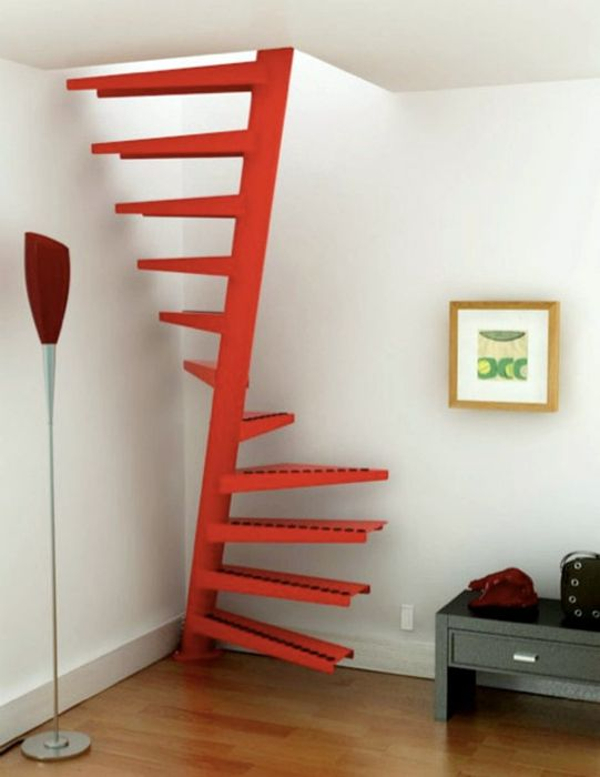 Space Saving Spiral Staircase   Make Attic Pull Down Stairs Permanent