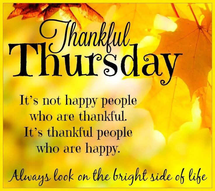 Thankful Thursday Look On The Bright Side Of Life Quotes To