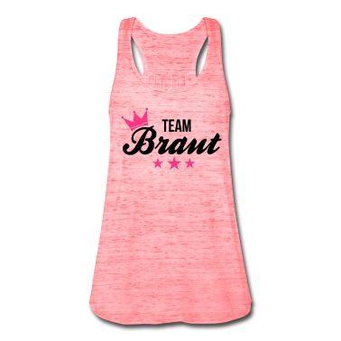 Sehr schönes und elegantes Team Braut Tanktop Shirt. So könnt ihr lässig auf euren Junggesellinnenabschied anstoßen.