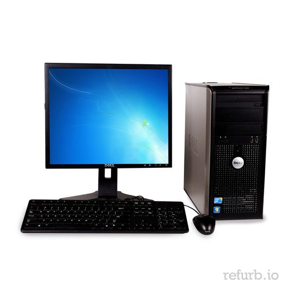 "*Manufacturer: DELL *Model #: OPTIPLEX GX745 *Form Factor: TOWER *CPU: INTEL CORE 2 DUO 2.4Ghz *Memory: 4GB *Memory Type: DDR2 *HDD: 250GB *Hard Drive Type: SATA *Optical: DVD-RW *Monitor: DELL 19"" WIDE *O/S: WINDOWS 7 HOME PREMIUM (W7HP), MICROSOFT AUTHORIZED REFURBISHER (MAR) *Keyboard & Mouse: YES"