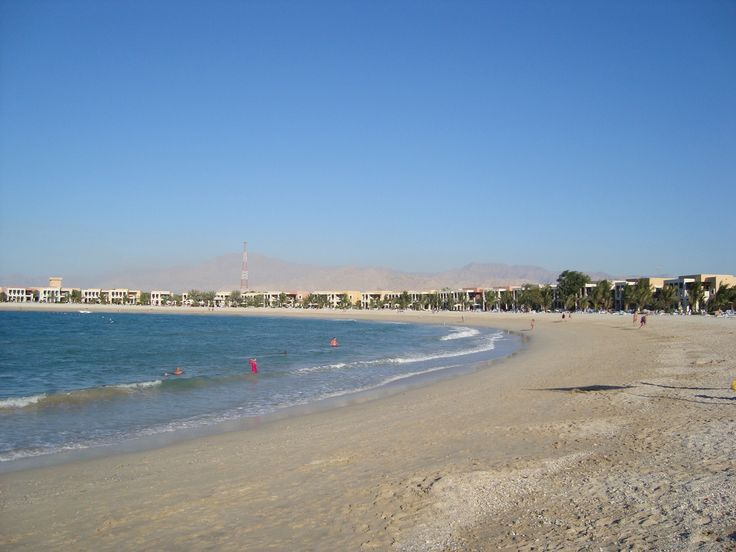 Ras al Khaimah in front of the Hilton.