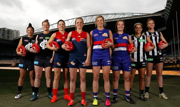 AFL women ready for the new competition in 2017. Go Dee's!