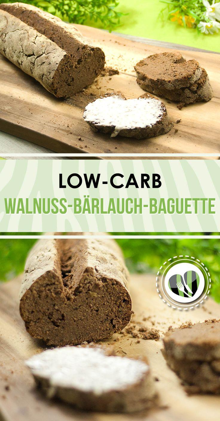 Das Walnuss-Bärlauch-Baguette ist ein leckeres Low-Carb-Brot. Es ist zudem auch noch glutenfrei.