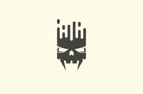 Equalizer Skull Logo by BekBlack on @creativemarket