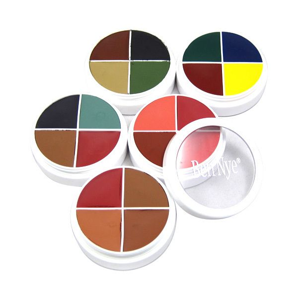 Camera Ready Cosmetics™ - Ben Nye's FX Color Wheels put the creativity of special effects color right into the palm of your hand!  With each wheel containing 4 complimentary colors to focus on a special effect of your choice, create lifelike effects that will have your onlookers doing double takes! ($13.00)