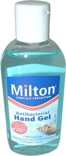 Milton Antibacterial Hand Gel 100ml Milton Antibacterial Hand Gel 100ml: Express Chemist offer fast delivery and friendly, reliable service. Buy Milton Antibacterial Hand Gel 100ml online from Express Chemist today! (Barcode EAN=3361370 http://www.MightGet.com/january-2017-11/milton-antibacterial-hand-gel-100ml.asp