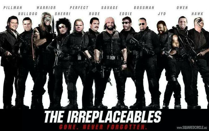 The irreplaceables wwe wwf legends r.i.p