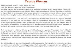 Image result for taurus personality female
