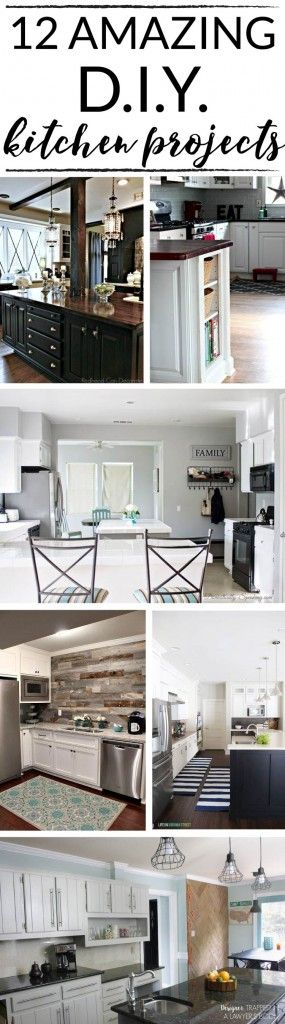 12 amazing diy kitchen projects diy kitchens projects for Diy kitchen ideas on a budget