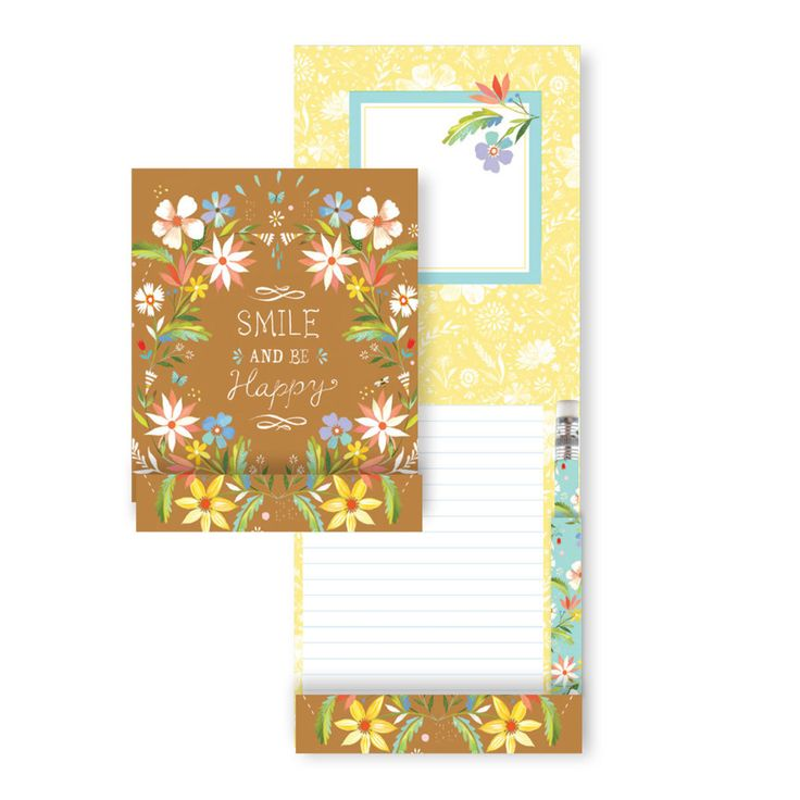Parkside Paper   Gift - Pencil Pad - Katie Daisy Smile, $4.99 (http://parksidepapers.com/gifts-for-mom/pencil-pad-katie-daisy-smile/)