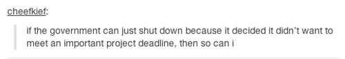 Community: The 21 Best Reactions To The United States Government Shutdown #shutdown