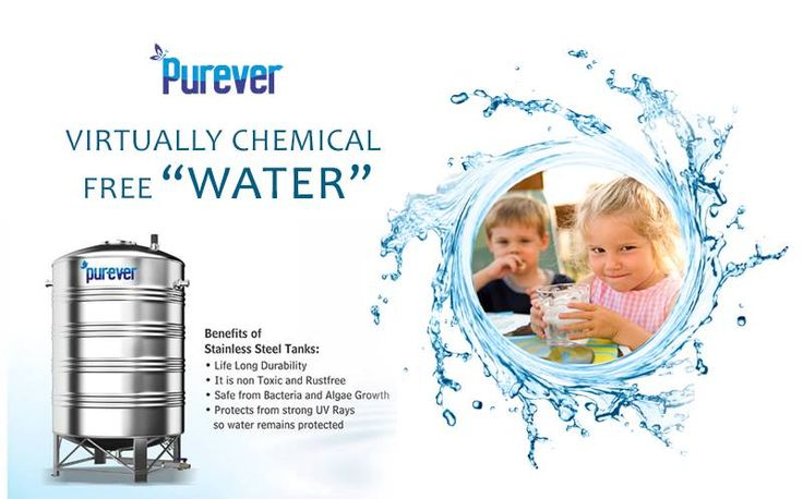 Stainless Steel Water Tanks keeping the Water Clean, Chemical Free & Unaffected. http://purever.in