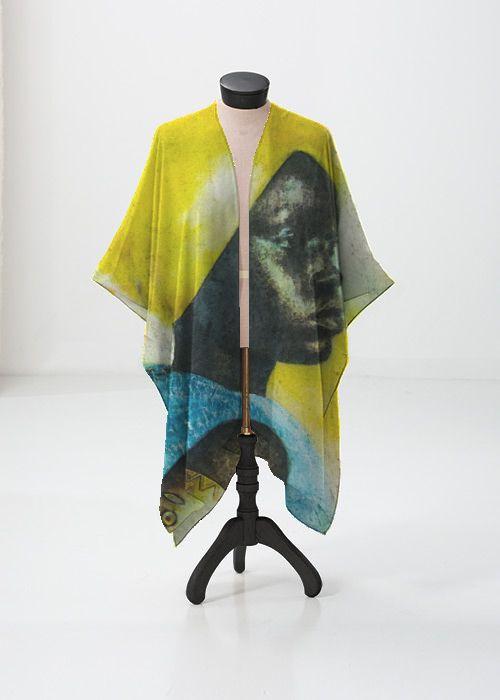 Mens Silk Pocket Square - Totem by VIDA VIDA PbSmI
