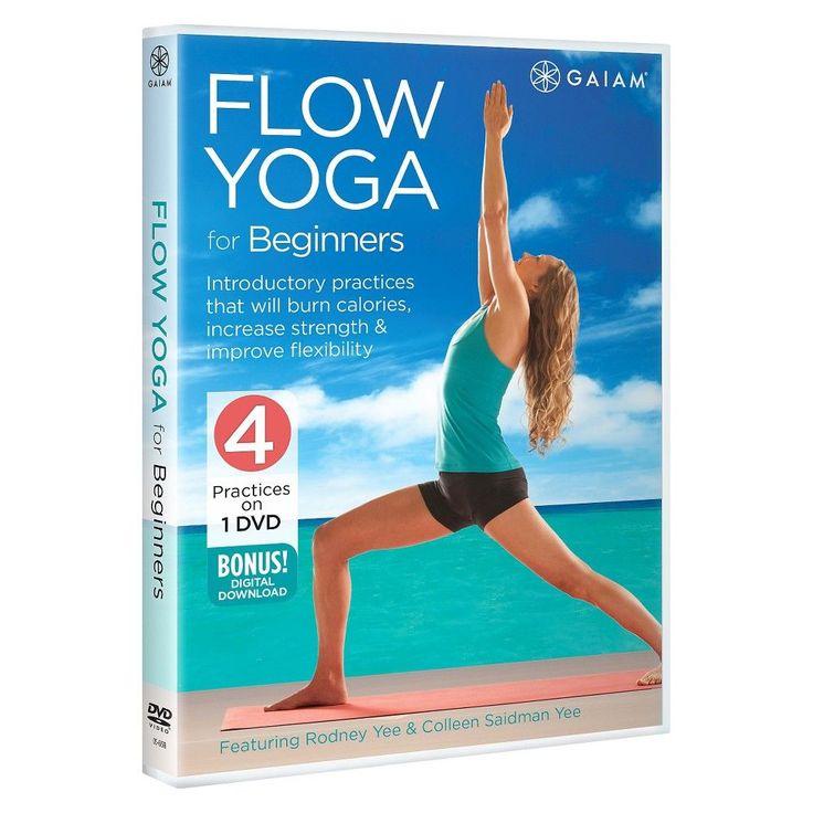 Flow Yoga for Beginners DVD with Rodney Yee & Colleen Saidman Yee,