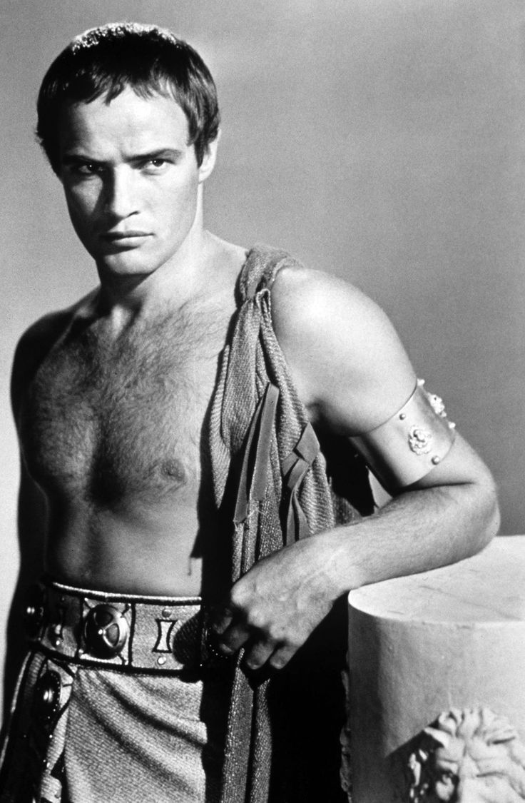 "Marlon Brando as Mark Antony in ""Julius Caesar"" (1953). Director: Joseph L. Mankiewicz. Remind you of anyone?"
