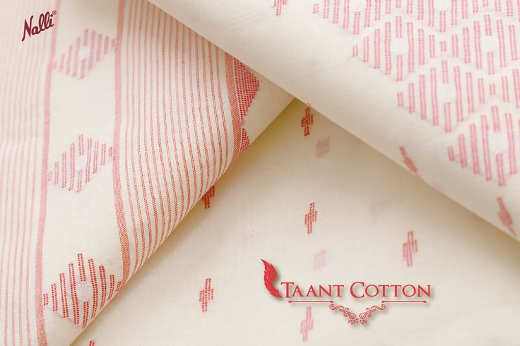 he red border and thread butta add a subtle charm to this off-white Tant cotton saree. #Nalli #onlineshopping #sareesonline #Tant #cotton #sarees #online #worldwide #shipping #indian #traditional