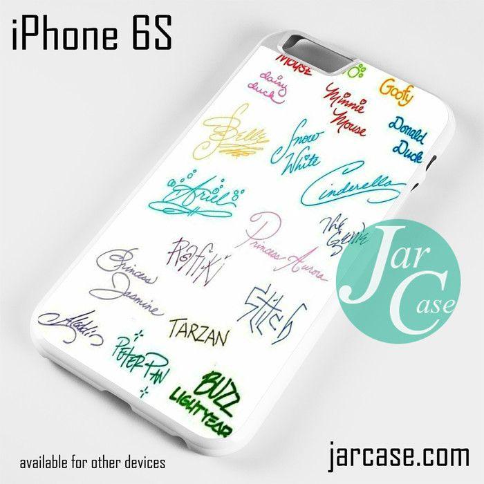 Disney Signature Phone case for iPhone 6/6S/6 Plus/6S plus