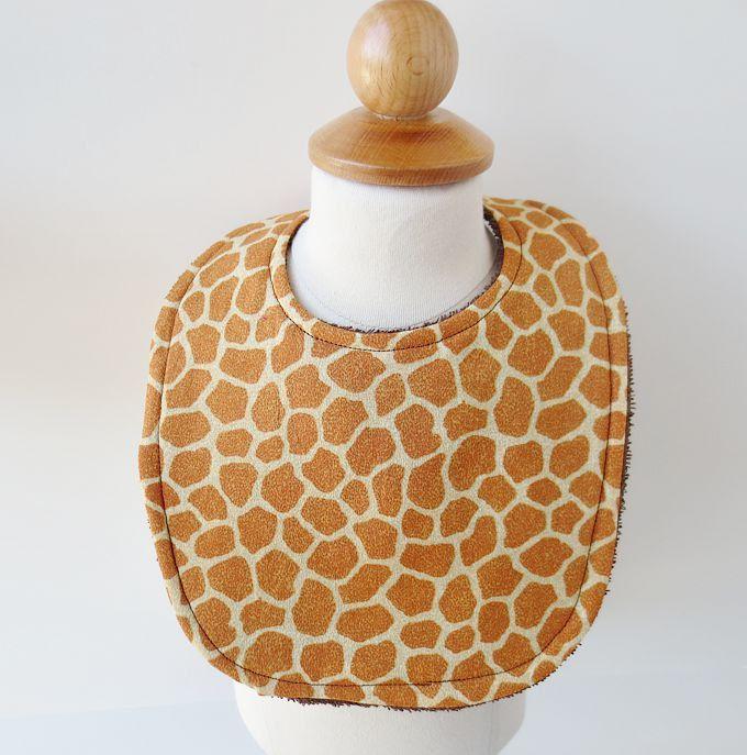 gender neutral baby clothes   Giraffe Baby Bib Terrycloth Bib in Giraffe by NecessaryCuteness
