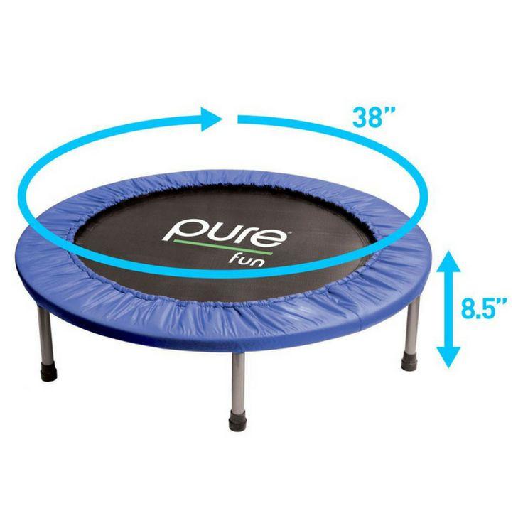 Pure Fun Mini Rebounder Fitness Trampoline w/250 lb Weight Limit