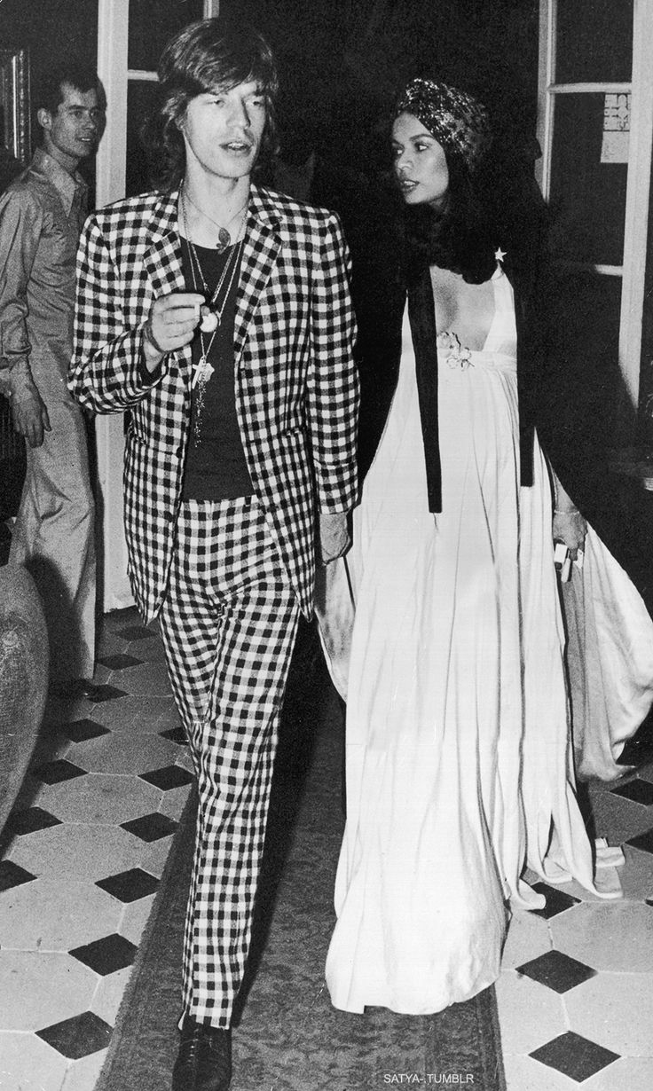 Mick and Bianca Jagger  ☾