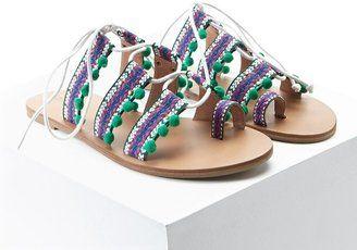 FOREVER 21  Tribal Print Toe Ring Sandals - $19.92