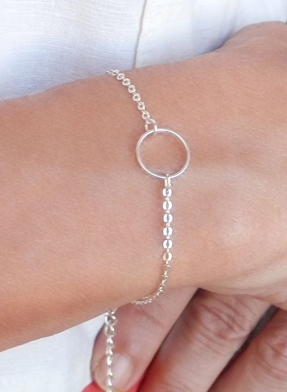Silver Karma Ring Bracelet. Silver Chain. Silver by Misstura