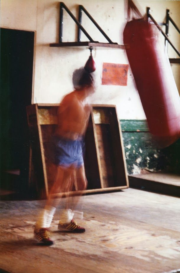 This image of a boxer in motion was taken at The Main Street Gym.