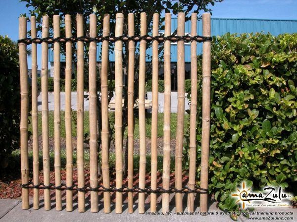 black woven bamboo fence ideas~
