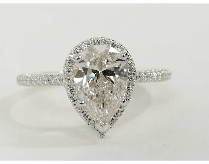 251 Carat Diamond Pear Shaped Halo Engagement Ring
