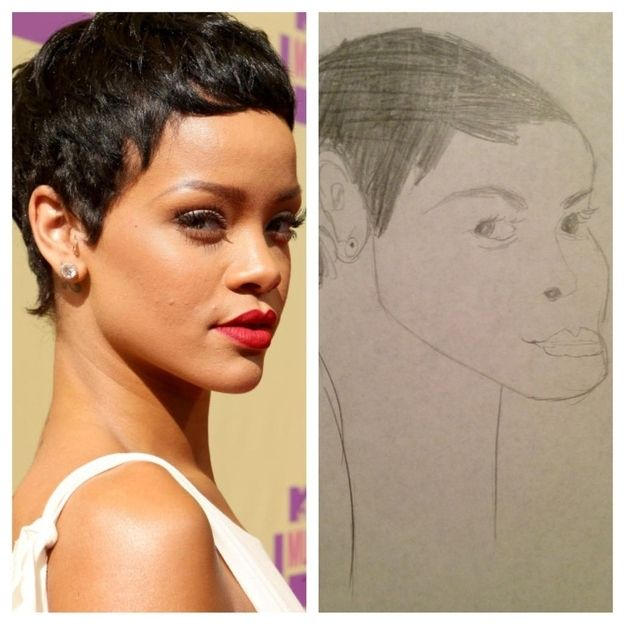 Probably The Best And Most Upsetting Rihanna Fan Art Ever ...