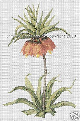 033 Bead Pattern Crown Fritillaria Imperialis Flowers Peyote - Beads & Jewelry Making