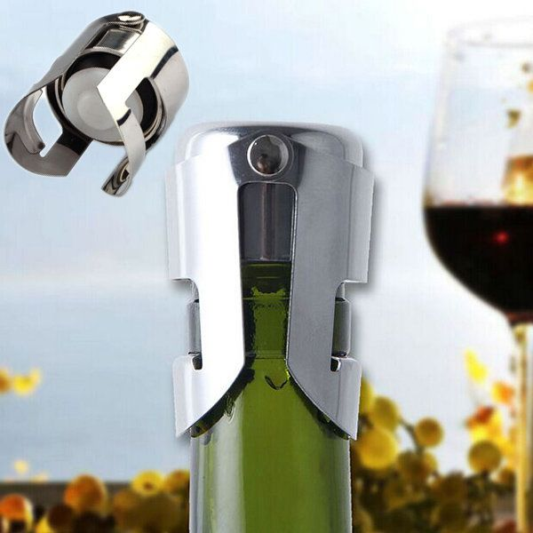 Stainless Steel Champagne Wine Stopper Sealer Sparkling Wine Bottle Plug